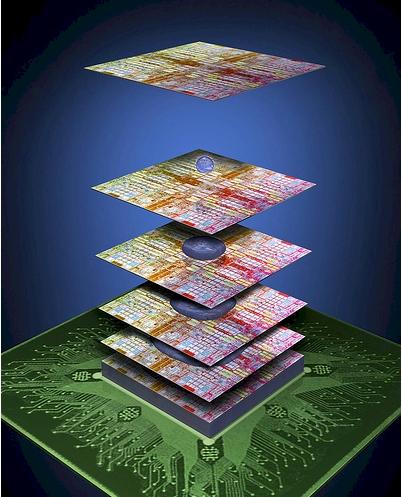 IBM 3M 3D chips