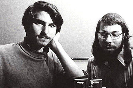 Steve Jobs and Steve Wozniak
