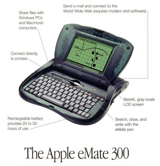 Apple's Newton OS–based eMate 300