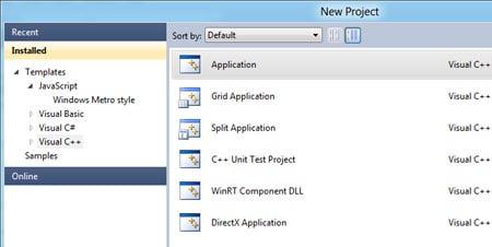 Windows 8 developer studio
