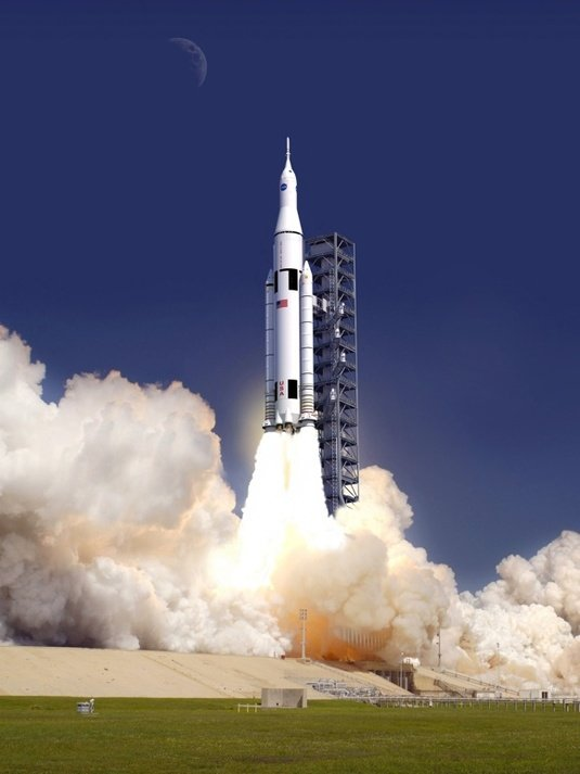 The planned Space Launch System. Credit: NASA