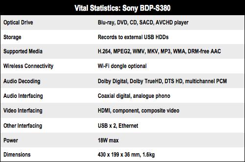 Sony BDP-S380 Blu-ray player