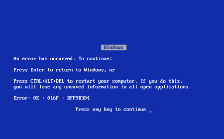 Windows 9x BSOD