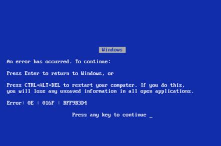 Windows 9x BSOD