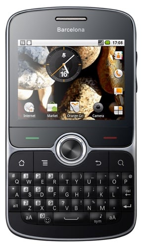 Orange Barcelona Android Qwerty smartphone