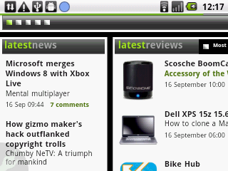 Orange Barcelona Android Qwerty smartphone UI screenshot