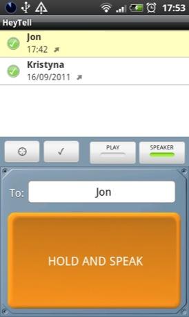 HeyTell Android screenshot