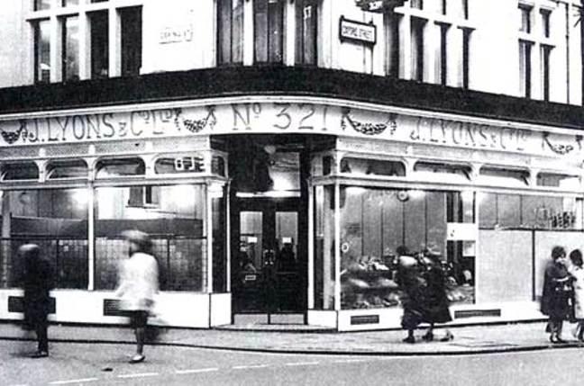 Lyons Tea Shop Oxford Street, London