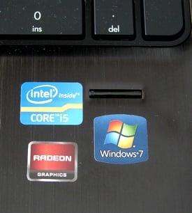 AMD Llano HP Pavilion dv6-6051ea stickers