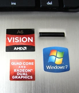 AMD Llano HP Pavilion dv6-6102sa stickers