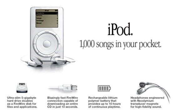 Apple promotes iPod