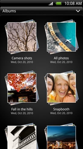 HTC Evo 3D Android smartphone Gallery app