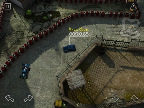 Reckless Racing HD iOS game screenshot