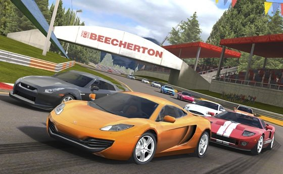 RealRacing 2 HD iOS game screenshot