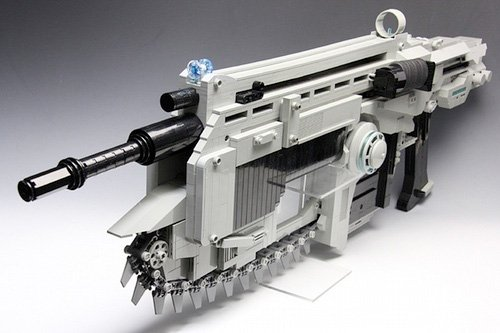 Lego Lancer Assault Rifle - GEARS OF WAR