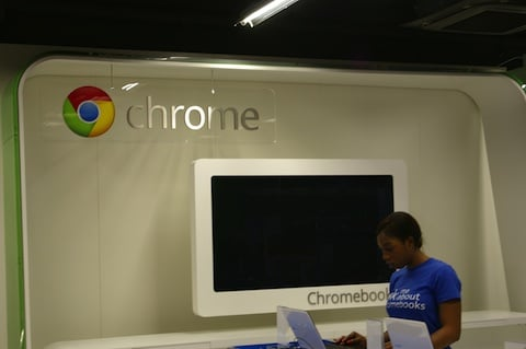 Chrome Zone in PC world, London, credit: The Register