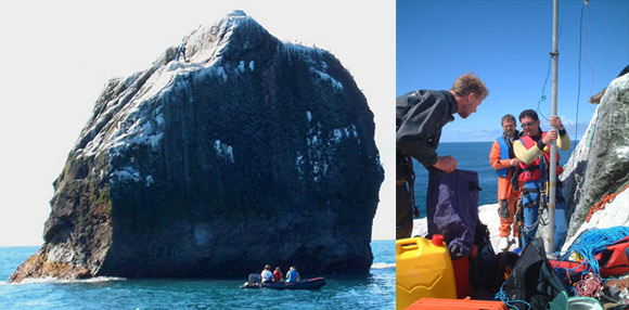 Our 2005 assault on Rockall