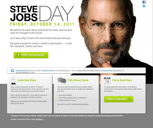Steve Jobs Day website