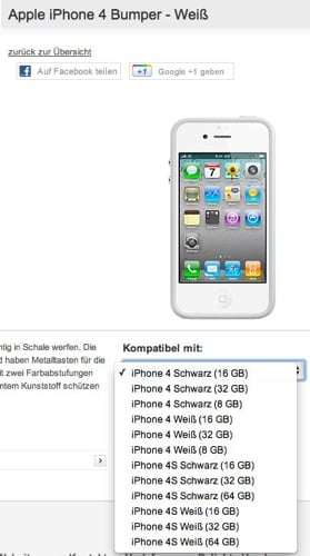 Vodafone Germany iPhone 4S, 8GB iPhone 4 screenshot