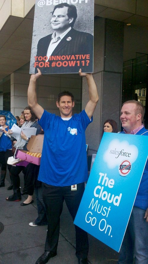 Salesforce.com protest at Oracle OpenWorld