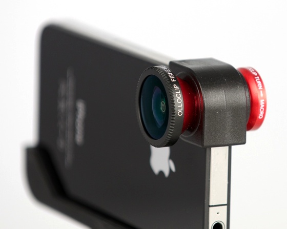 Olloclip three-in-one lens accessory for iPhone