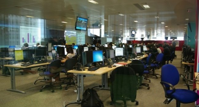 Olympics Technical Operation centre, credit The Register