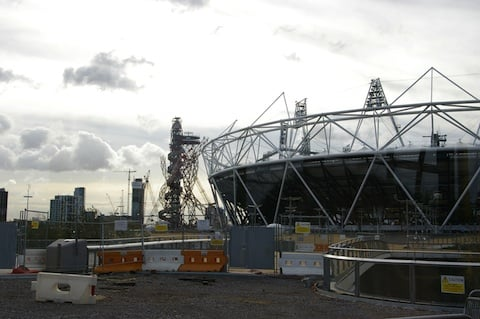 Tower by Anish Kapoor and the Main Stadium under construction, credit The Regist