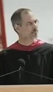 Steve Jobs speaking at Stanford University's 2005 commencement