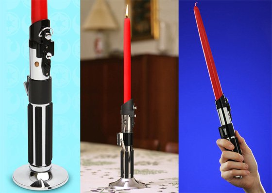 ThinkGeek's Star Wars Lightsabre Candlestick