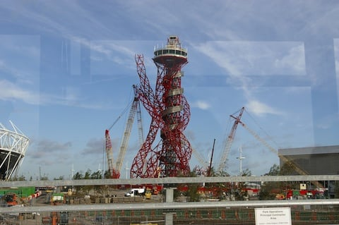 Olympic site in construction, credit The Register