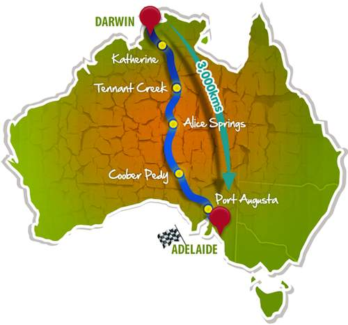 Darwin to Adelaide, here we come