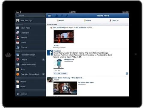 iPad app, credit Facebook