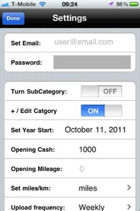 iMoney iOS app screenshot