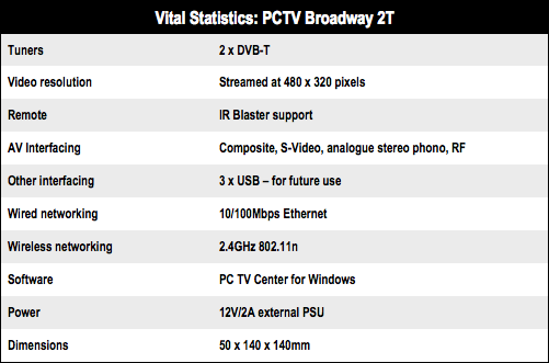 PCTV Broadway 2T TV streamer