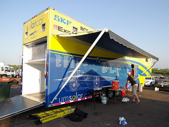 The University of Michigan's mighty trailer