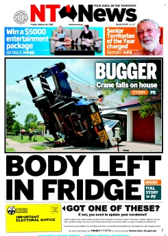 The front page of today's NT News