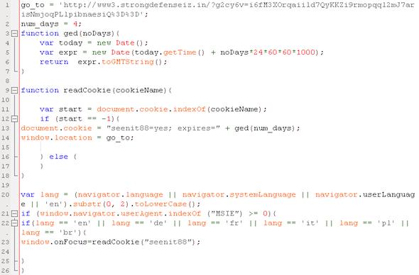 Decoded attack script