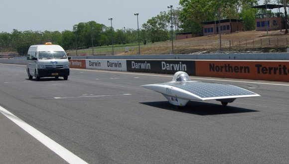 MIT's car guns it round the track