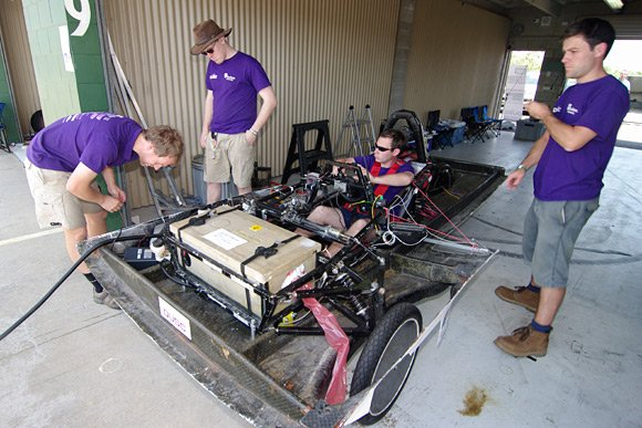 Durham Uni and their car in Darwin