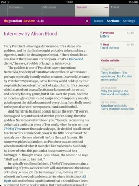 The Guardian iPad Edition