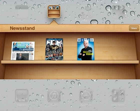 Apple iOS 5's Newsstand