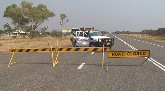 The Stuart Highway closed at Waukhope