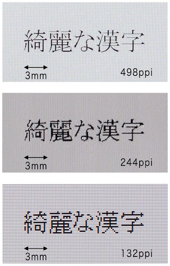 Toshiba 498ppi LCD comparison