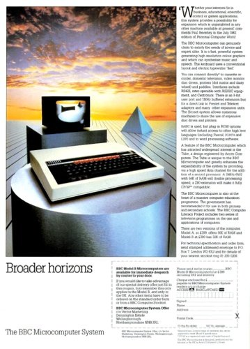 Acorn BBC Micro advert