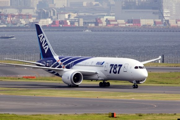 The first Dreamliner lands at Tokyo. Credit: Boeing