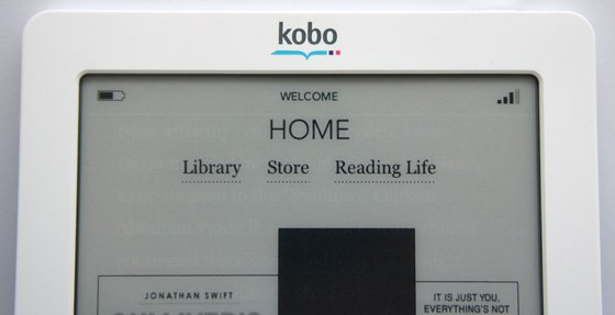 WHSmith Kobo Touch e-book reader