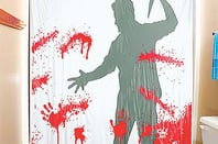 Bloody Serial Killer Shower Curtain