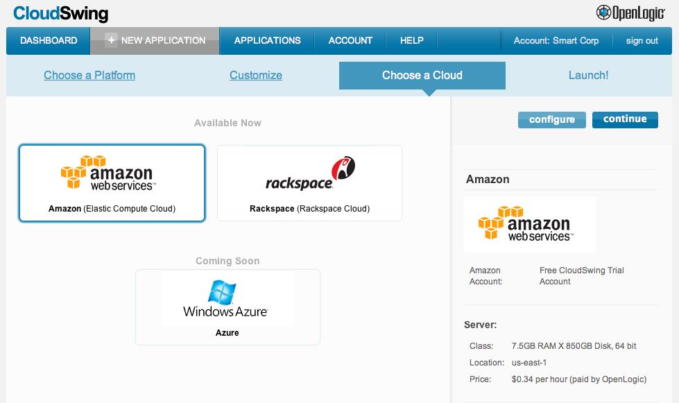 OpenLogic CloudSwing