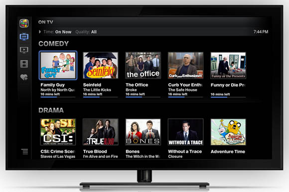 Google TV content browser