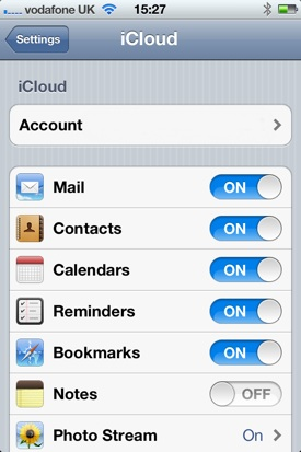 iOS has iCloud for data syncing